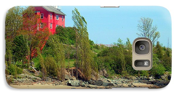 Galaxy Case featuring the photograph Marquette Harbor Lighthouse by Mark J Seefeldt
