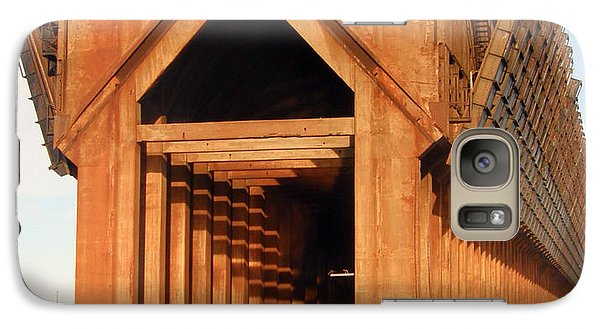 Galaxy Case featuring the photograph Marquette Ore Docks by Mark J Seefeldt