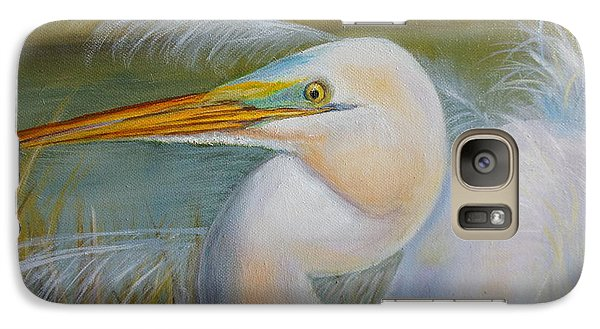 Galaxy Case featuring the painting Marsh Master by Marlyn Boyd