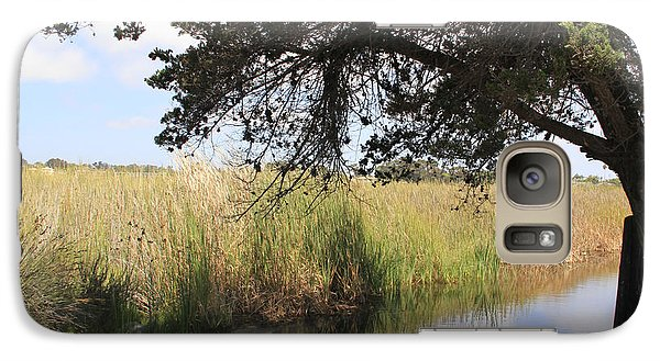 Galaxy Case featuring the photograph Marsh Reflections by Jan Cipolla