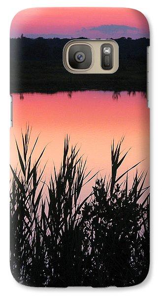 Galaxy Case featuring the photograph Marsh Sunset by Clara Sue Beym