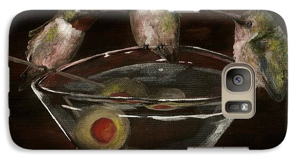 Galaxy Case featuring the painting Martini For The Birds Revisited by Meagan  Visser