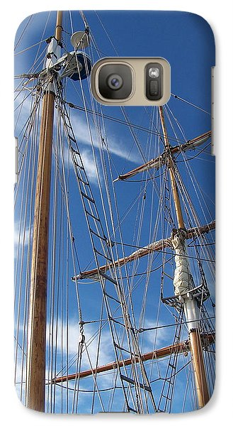 Galaxy Case featuring the photograph Masts by Robin Regan