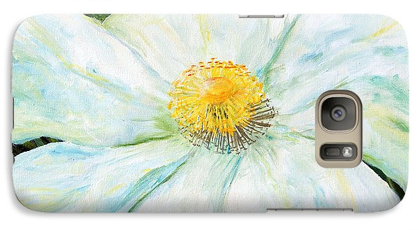 Galaxy Case featuring the painting Matilija Poppy by Terry Taylor