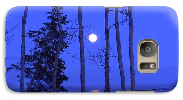 Galaxy Case featuring the photograph May Moon Through Birches by Francine Frank