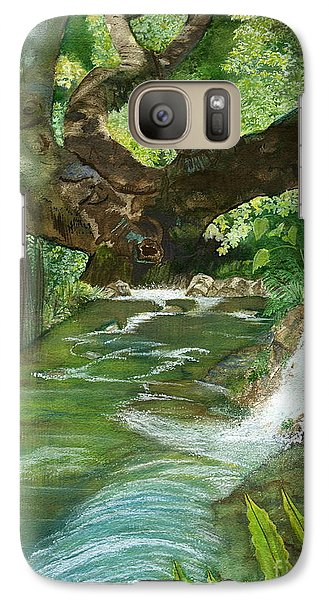 Galaxy Case featuring the painting Maya Ubud Tree Bali Indonesia by Melly Terpening