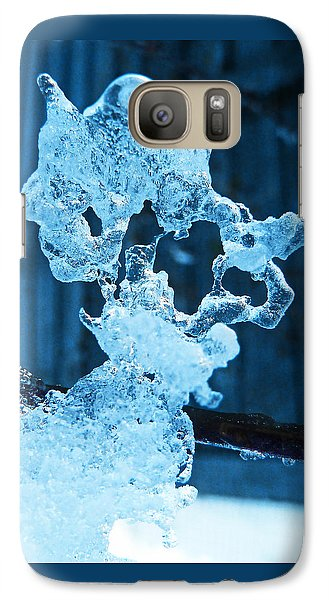 Galaxy Case featuring the photograph Meet The Ice Sculpture by Steve Taylor