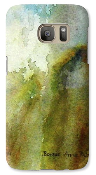 Galaxy Case featuring the painting Melting Mountain by Anna Ruzsan