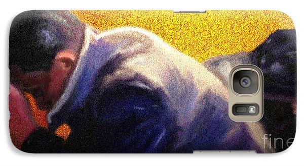 Galaxy Case featuring the painting Men Do Pray by Vannetta Ferguson