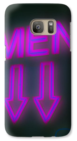 Galaxy Case featuring the photograph Men by Richard Piper