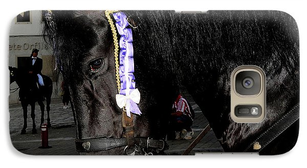 Galaxy Case featuring the photograph Menorca Horse 2 by Pedro Cardona