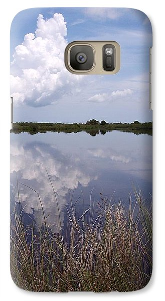 Galaxy Case featuring the photograph Merritt Island Fl Reflections Wildlife Preserve by Rebecca Overton
