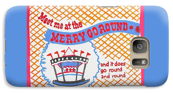 Galaxy Case featuring the painting Merry Go Round by Beth Saffer
