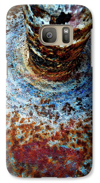 Galaxy Case featuring the photograph Metallic Fluid by Pedro Cardona