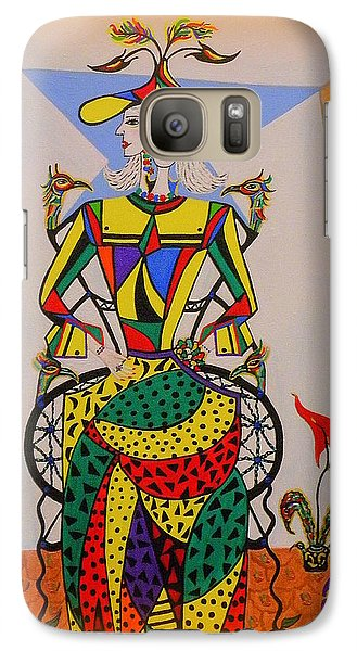 Galaxy Case featuring the painting  Eleonore Graduation  by Marie Schwarzer