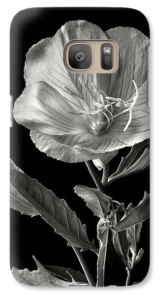 Galaxy Case featuring the photograph Mexican Evening Primrose In Black And White by Endre Balogh