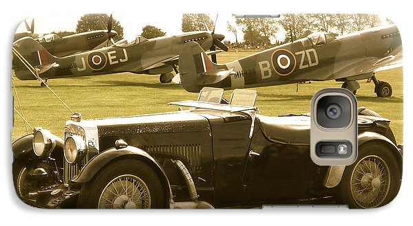 Galaxy Case featuring the photograph Mg And Spitfires by John Colley