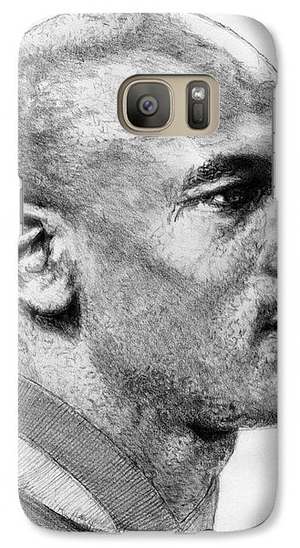 Galaxy Case featuring the drawing Michael Jordan In 1990 by J McCombie