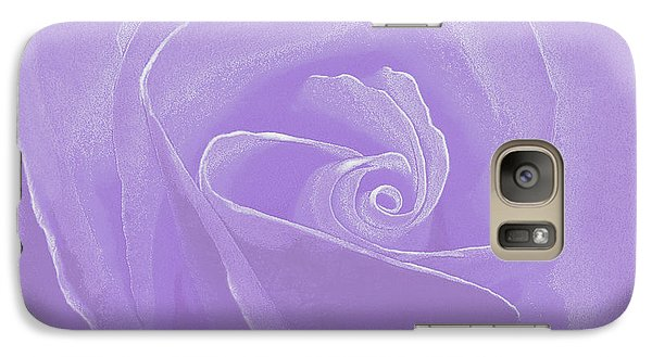 Galaxy Case featuring the photograph Micro Lavender Rose by Cindy Lee Longhini