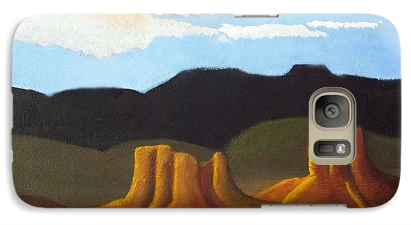 Galaxy Case featuring the painting Mid-morning On A Western Plains by Margaret Harmon
