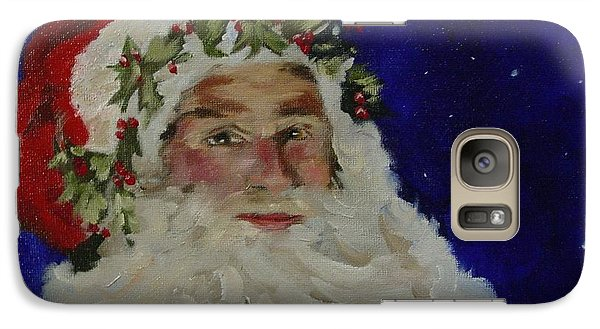Galaxy Case featuring the painting Midnight Santa by Carol Berning