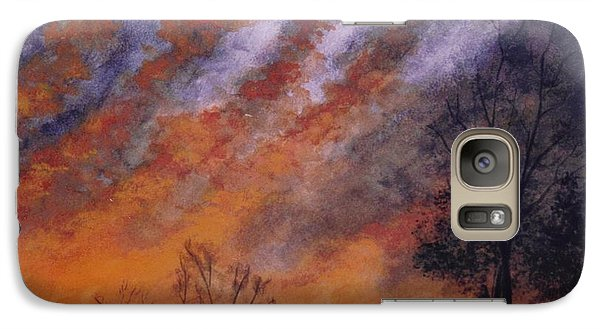 Galaxy Case featuring the painting Midwest Sunset by Stacy C Bottoms