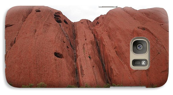 Galaxy Case featuring the photograph Mighty Uluru by Laurel Talabere
