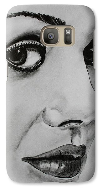 Galaxy Case featuring the drawing Mila by Michael Cross