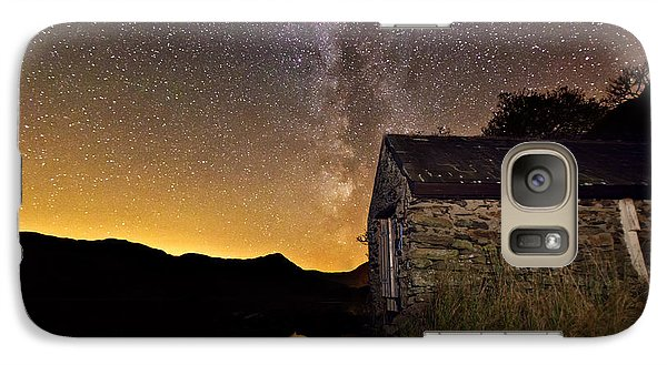 Galaxy Case featuring the photograph Milky Way Above The Old Boathouse by Beverly Cash