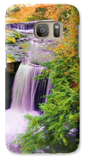 Galaxy Case featuring the painting Mill Creek Waterfall by Michelle Joseph-Long