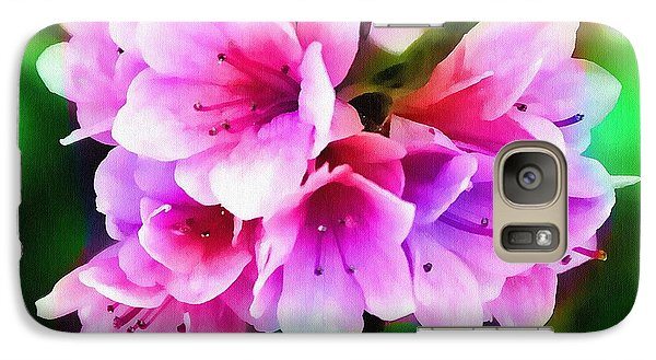 Galaxy Case featuring the photograph Miniature Azaleas by Judi Bagwell