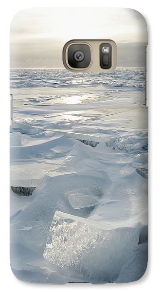 Galaxy Case featuring the photograph Minnesota, United States Of America Ice by Susan Dykstra