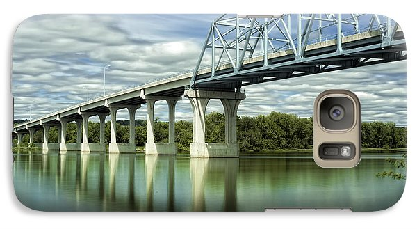 Galaxy Case featuring the photograph Mississippi River At Wabasha Minnesota by Tom Gort