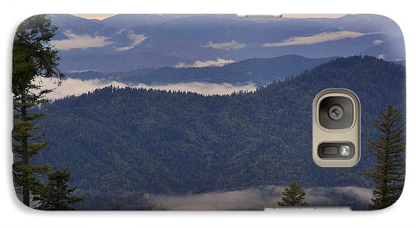 Galaxy Case featuring the photograph Mists In The Siskiyou Mountains by Mick Anderson