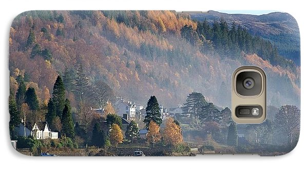 Galaxy Case featuring the photograph Misty Autumn Morning by Lynn Bolt