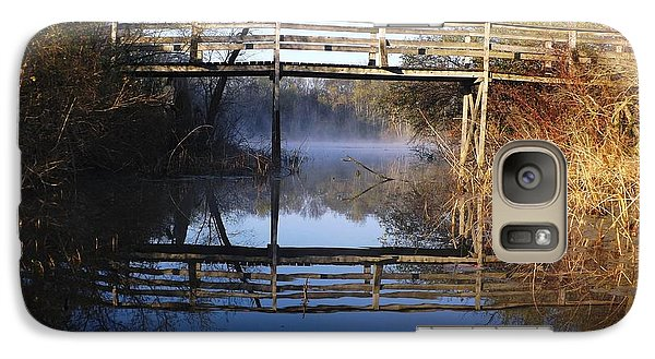 Galaxy Case featuring the photograph Misty River Bridge by Gerald Strine