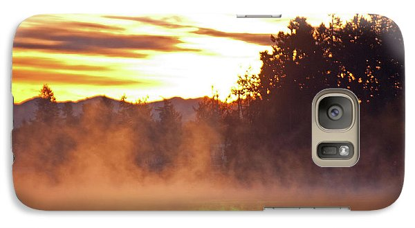 Galaxy Case featuring the photograph Misty Sunrise by Tikvah's Hope