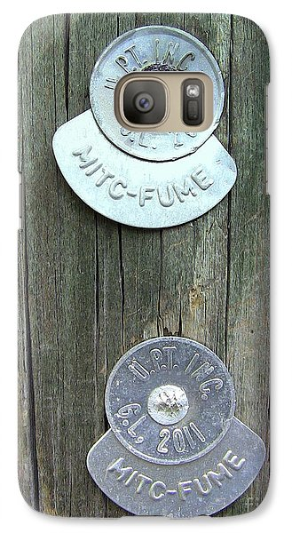 Galaxy Case featuring the photograph Mitc Fume Tags On Light Pole by Renee Trenholm
