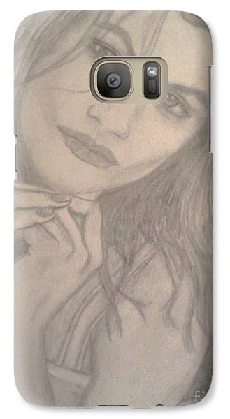 Galaxy Case featuring the drawing Model by Christy Saunders Church