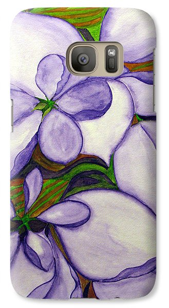 Galaxy Case featuring the painting Modern Mussaenda by Debi Singer