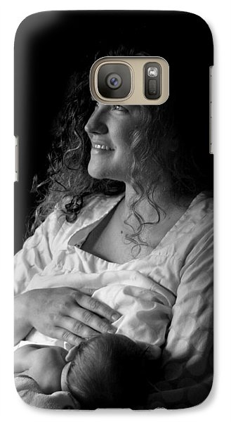 Galaxy Case featuring the photograph Mom And Baby by Kelly Hazel