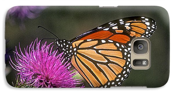 Galaxy Case featuring the photograph Monarch On Thistle 13f by Gerry Gantt
