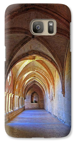 Galaxy Case featuring the photograph Monastery Passageway by Dave Mills