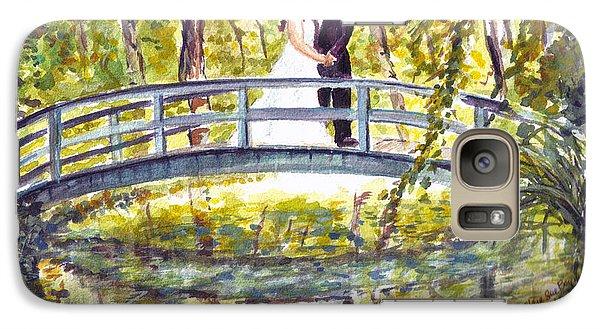 Galaxy Case featuring the painting Monet Wedding by Clara Sue Beym