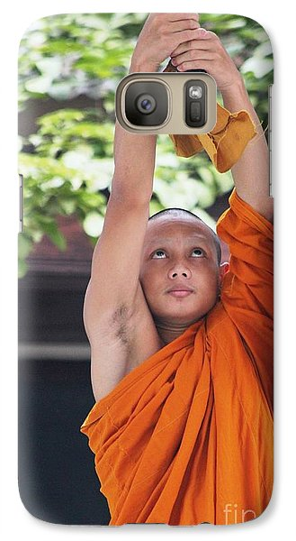Galaxy Case featuring the photograph Monk In The Bell Tower #2 by Nola Lee Kelsey