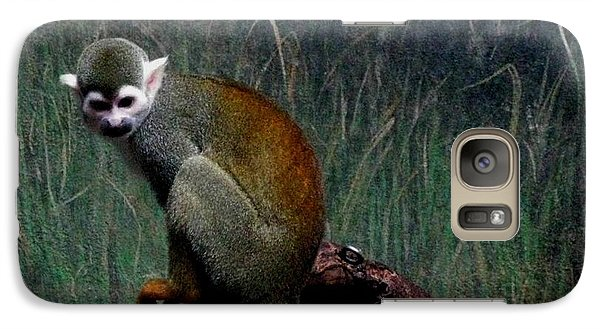 Galaxy Case featuring the photograph Monkey by Maria Urso