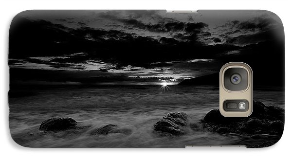Galaxy Case featuring the photograph Monochrome Sunset  by Beverly Cash