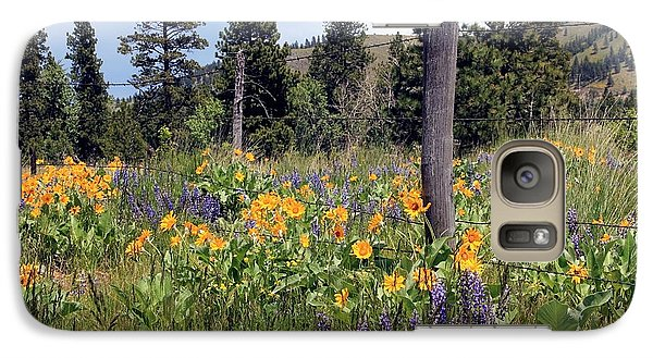 Galaxy Case featuring the photograph Montana Wildflowers by Athena Mckinzie