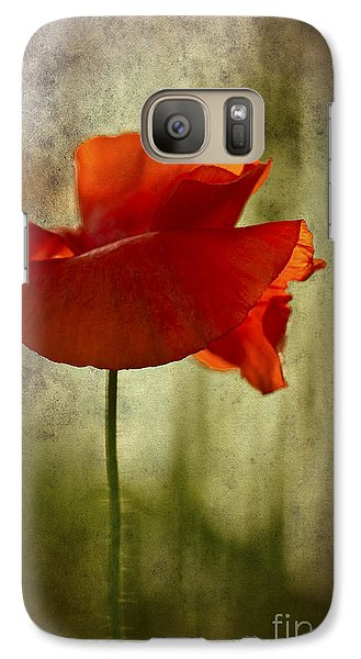 Moody Poppy. Galaxy S7 Case by Clare Bambers - Bambers Images