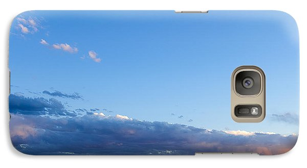 Galaxy Case featuring the photograph Moon Above The Horizon by Monte Stevens